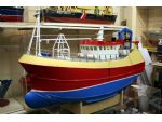 The prototype of the proposed next kit. The twin rig trawler Our Lass II built by Parkol Marine for Locker Trawlers Ltd and scheduled for full production by The Model Slipway in the latter part of 2009.
